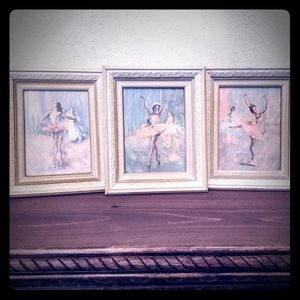 Vintage trio of Ballerina pictures